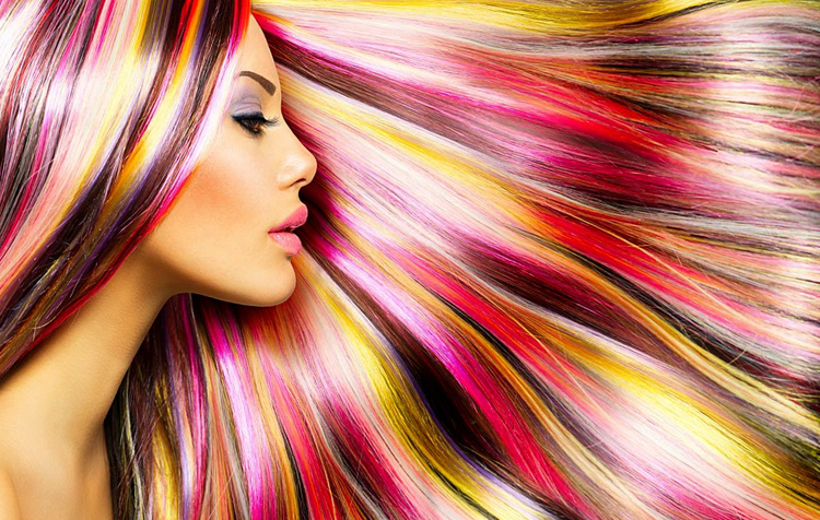 Использование мелков для волос