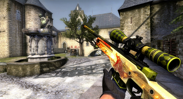 AWP Dragon Lore в действии