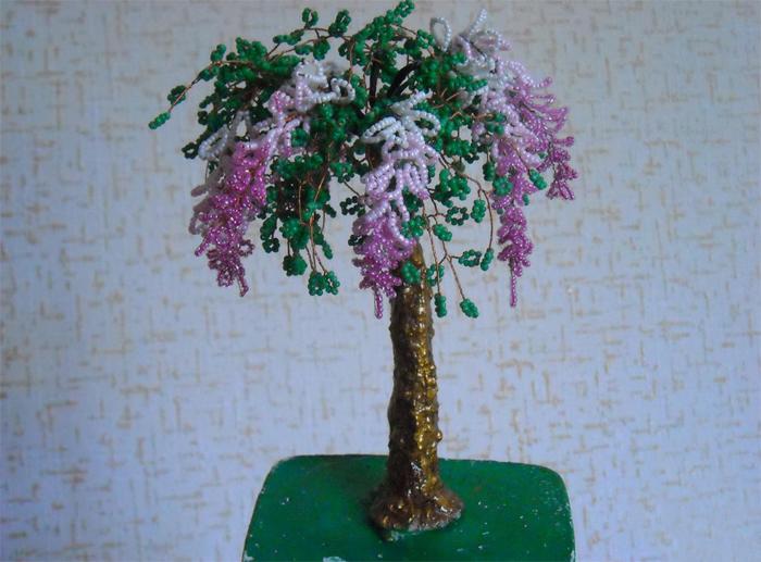 Пример дерева из бисера