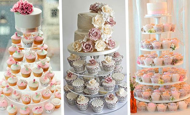Свадебные торты из капкейков