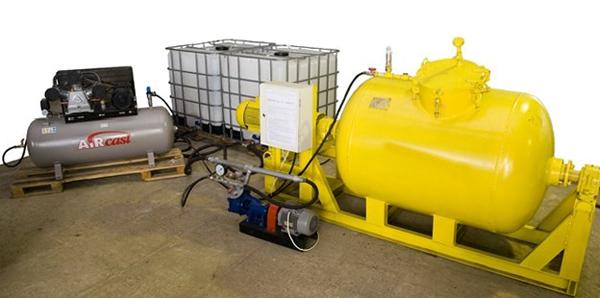 Традиционное оборудование с использованием пеногенератора