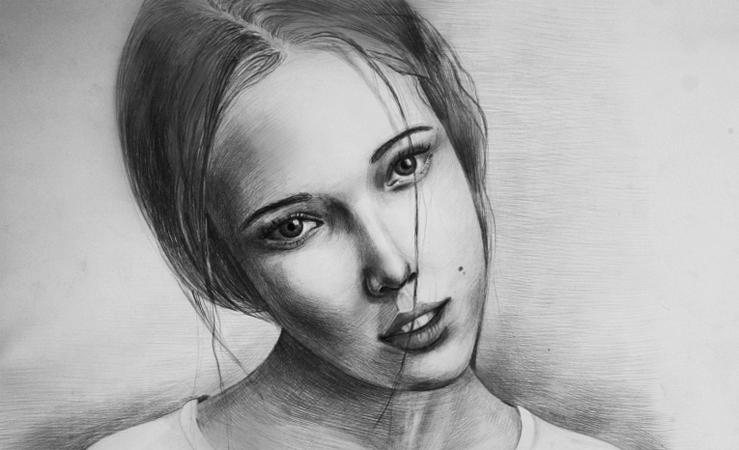 Портрет с фотографии карандашом