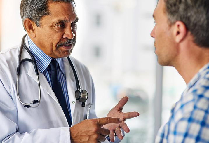 Разговор доктора с пациентом