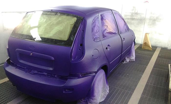 Покраска легкового автомобиля