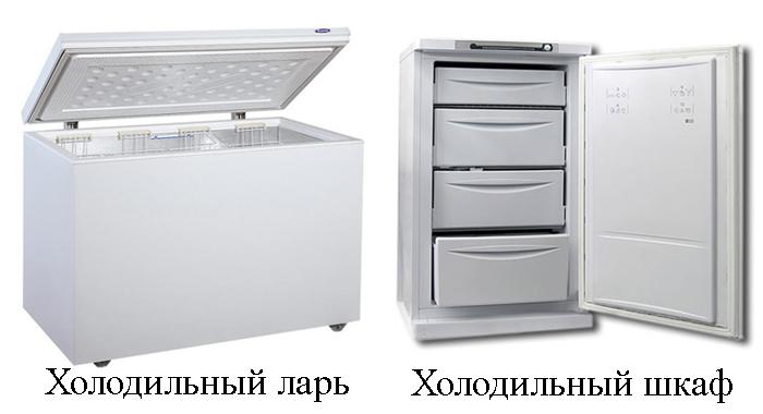 Холодильный ларь и шкаф