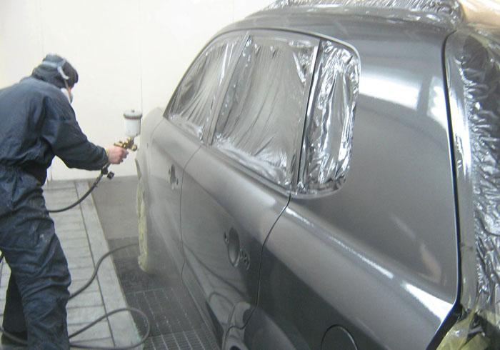 Покраска автомобиля в серый цвет
