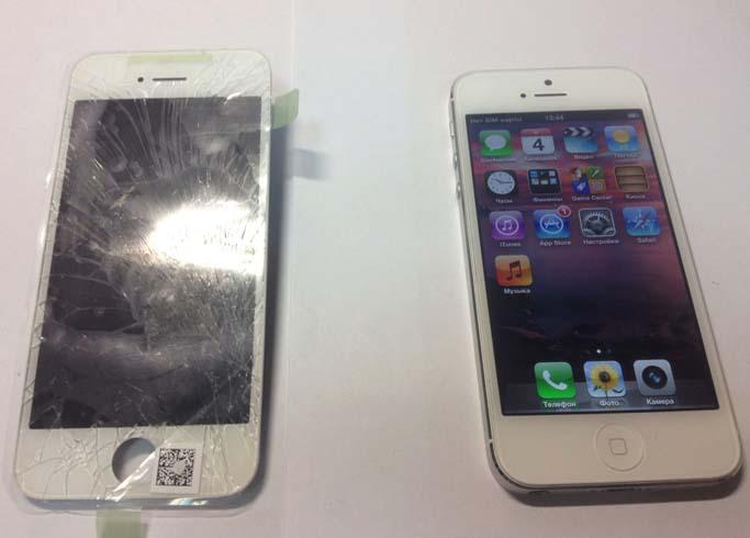 Замена стекла на iPhone 5