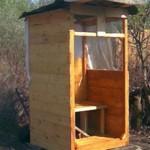 Сколько стоит деревянный туалет на дачу