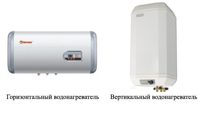 Горизонтальные и вертикальные электрические водонагреватели
