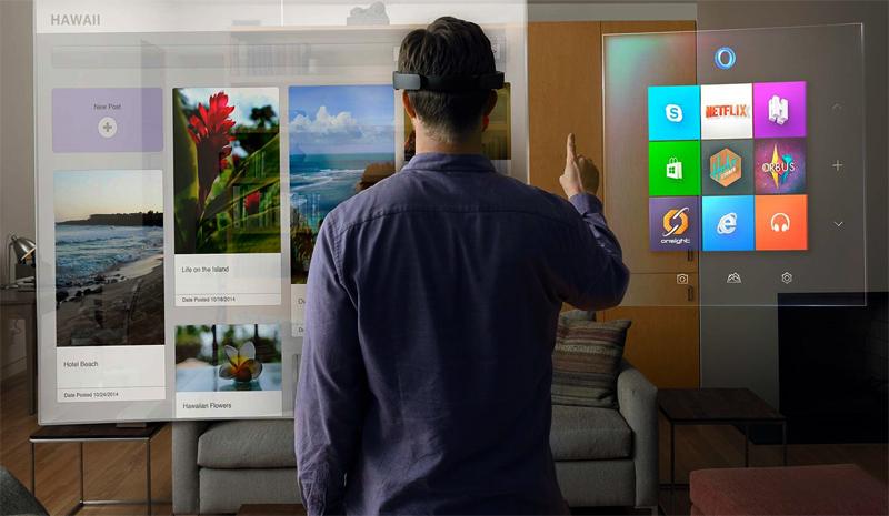 Microsoft Hololens и человек