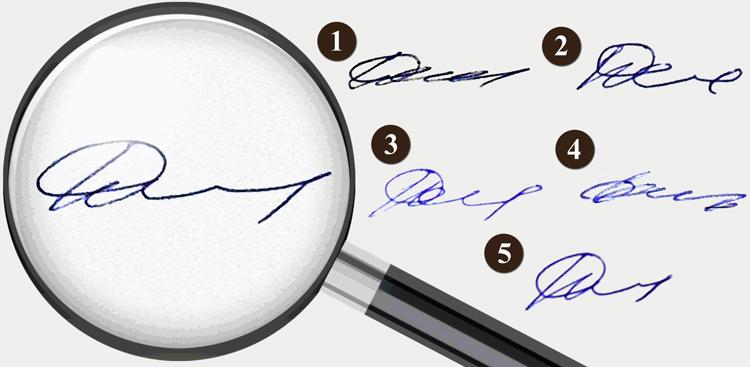 Почерк человека