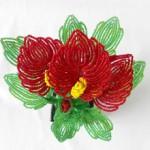 Сколько стоят цветы из бисера ручной работы?