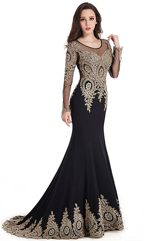 Девушка в шикарном платье