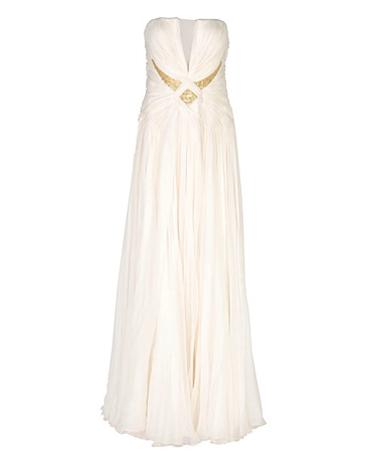 Длинное платье из шифона, цена — 218 000 руб.