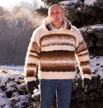 Зимний мужской свитер «Капучино со сливками» — цена 129 000 рублей.