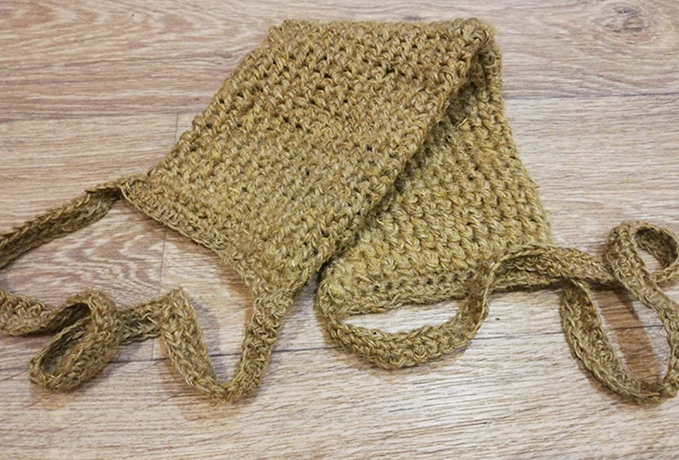 Мочалка из крапивного волокна