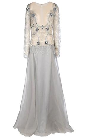 Кружевное платье из органзы, цена — 102 000 руб.
