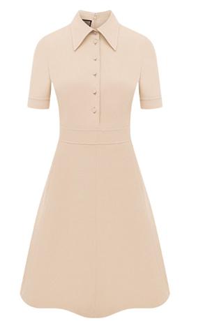 Платье из шелка и шерсти — цена 227 000 рублей