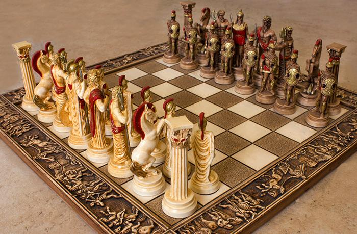 Шахматы в виде воинов