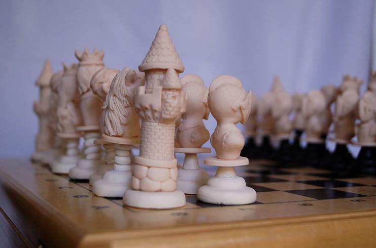 Шахматы из полимерной глины