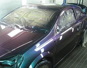 Сколько в среднем стоит покрасить машину в хамелеон