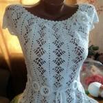 Сколько в среднем стоит вязаное крючком платье ручной работы