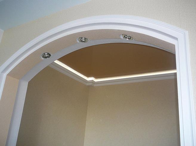 Новая арка из гипсокартона