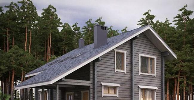 Асимметричная двускатная крыша