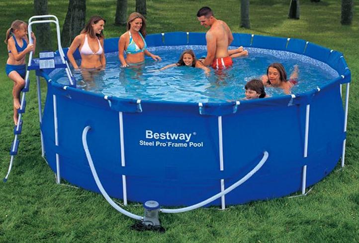 Каркасный надувной бассейн