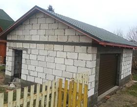 Сколько стоит построить гараж из пеноблоков