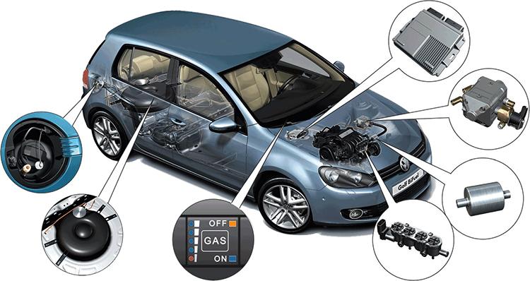 Как выглядит газовое оборудование на авто