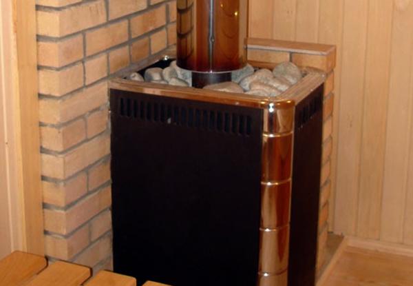 Угловая печь в бане