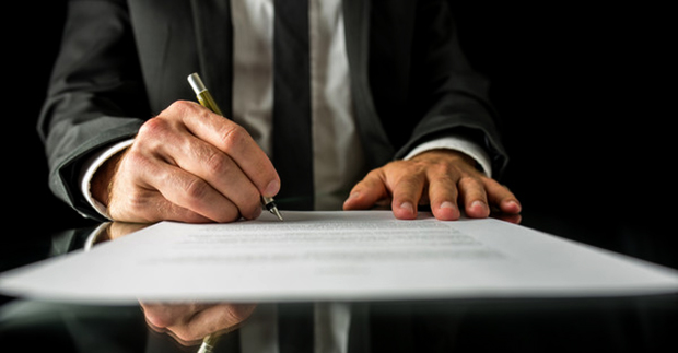 Подпись договора у нотариуса