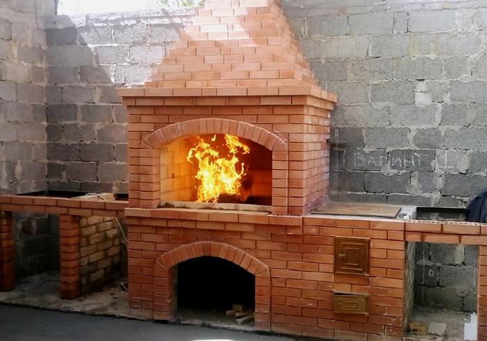 Готовая печь из кирпича
