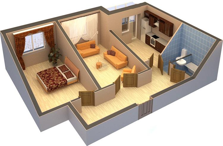 Перепланированная квартира