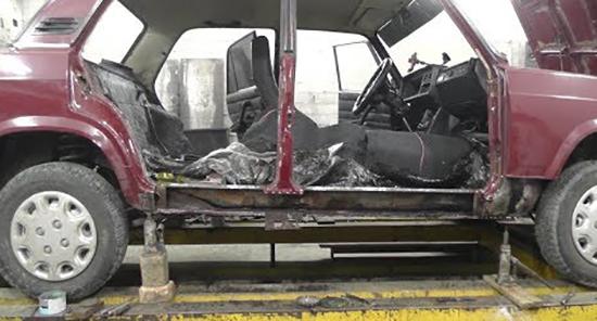 ВАЗ 2107 на ремонте