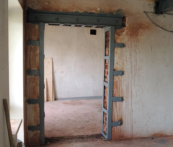 После создания дверного проема