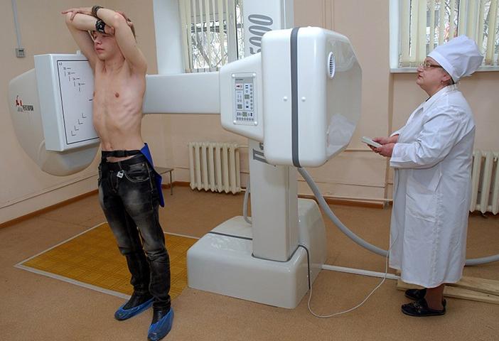 Процесс флюрографии