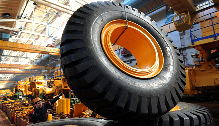 Производство колес на Белаз