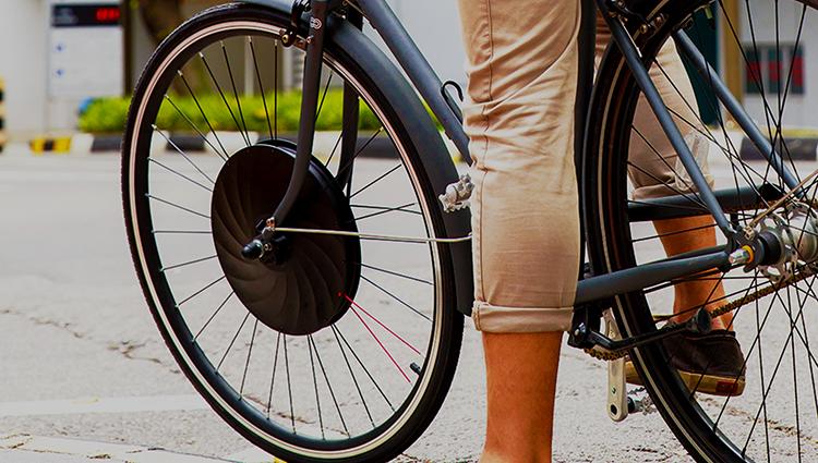 Велосипед с электороколесом