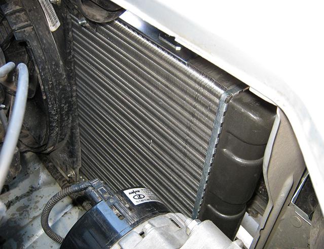 Процесс замены радиатора на калину