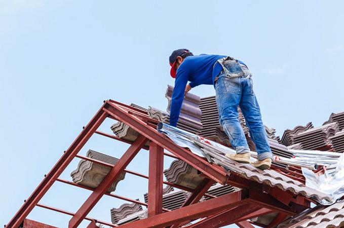 Процесс перекрытия крыши
