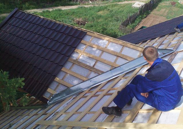 Работы по перекрытию крыши