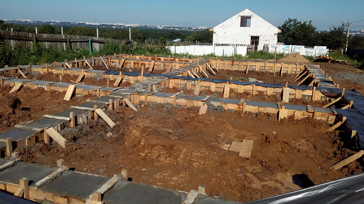 Строительство и заливка