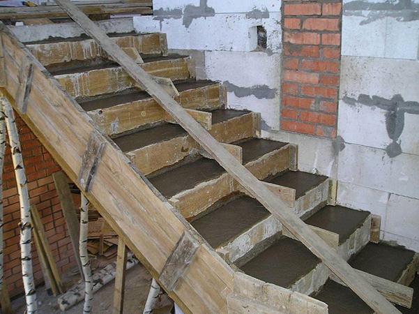 Залитая лестница