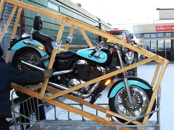Погрузка мотоцикла