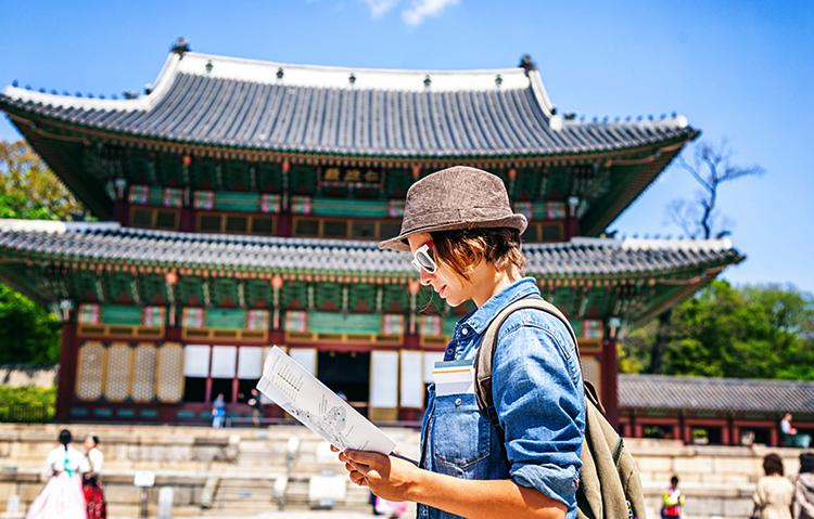 Девушка в Южной Корее