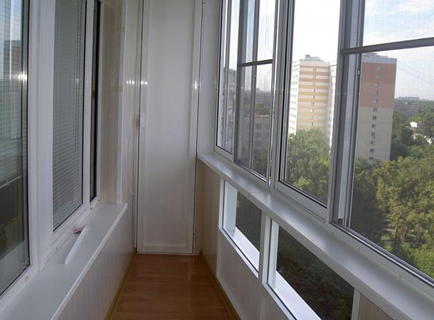 Новый алюминиевый балкон