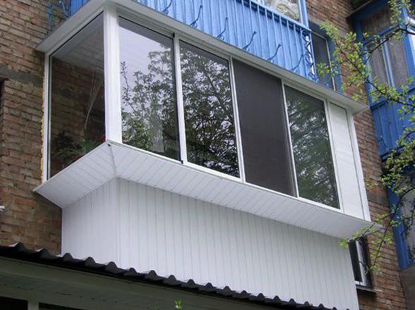 Алюминиевый балкон снаружы