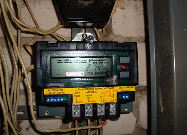 Установленный электросчетчик